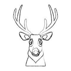 Cute reindeer cartoon