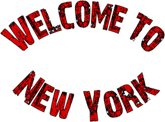 Welcome to New York Text Sign