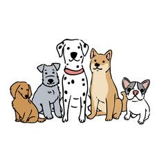 犬 年賀状 デザイン イラスト