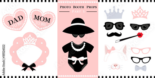 photo regarding Baby Shower Photo Booth Props Printable referred to as Mounted of image booth printable props for bridal, little one shower
