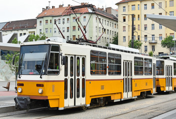 Tram at Budapest city, Hungary