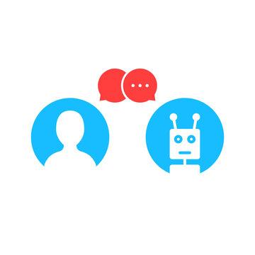 simple chatbot hotline logo