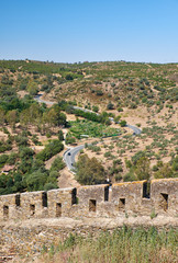 The wall of the old town of Mertola.  Baixo Alentejo. Portugal