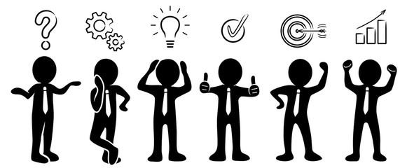 Geschäftsmänner: Problemlösung / Planungskonzept / Lösungskonzept