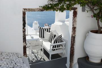 Relax terrace with beautiful sea view in Oia, Santorini