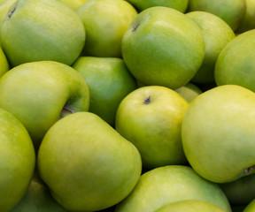 Green Apple close-up,variety: Semerenko