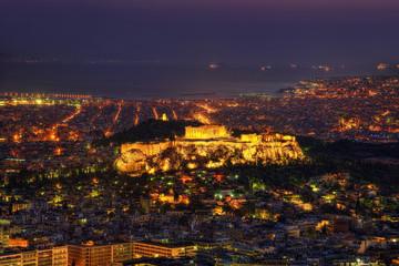 Acropolis Sunset over Athens, Greece
