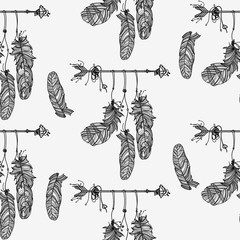 Seamless pattern with ethnic arrow.