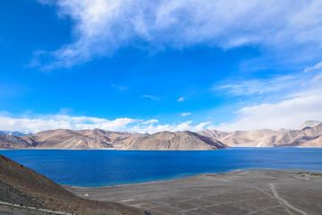 Shore of Pangong Lake in Leh, Ladakh, India.