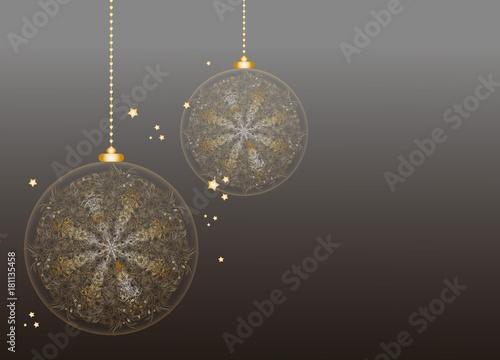 Weihnachtlicher hintergrund mit zwei au ergew hnlichen weihnachtskugeln in zarten gold f r - Besondere weihnachtskugeln ...
