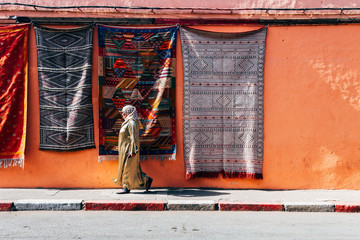Canvas Prints Morocco streets of marrakech old medina, morocco