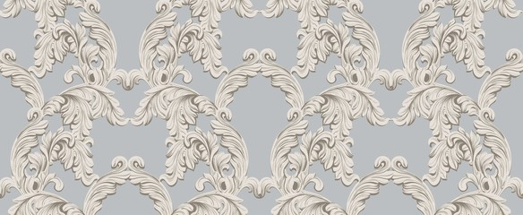 Baroque pattern for invitation, wedding, greeting cards. Vector illustration handmade ornament decors