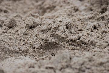 textured background of sand blurred focus