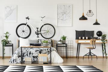 Bike on bedhead