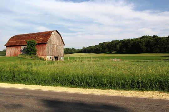 Weathered Wisconsin Barn