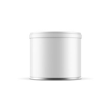 Small blank metal Tin can packaging Mockup for peanut or coffee, 3d rendering