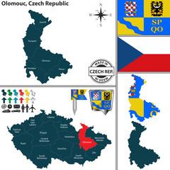 Map of Olomouc, Czech Republic