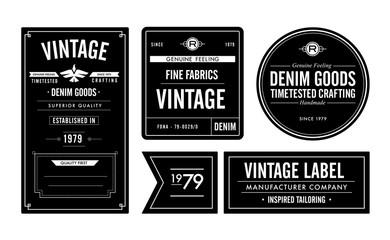 Denim Goods Vintage Labels & Hang Tag