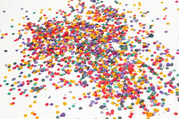 Colorful confetti background. Multicolored. Selective focus