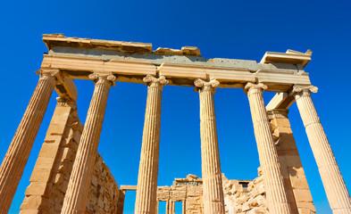 Ancient columns of The Erechtheion temple