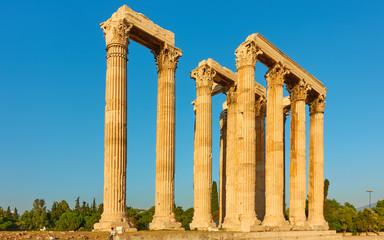 Ancient columns of Zeus Temple