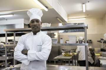 Chef in commercial kitchen, portrait