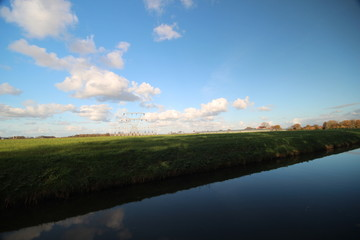 Power station in the middle of the Wilde Veenen polder in Moerkapelle, Netherlands