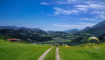 Hocheck in Oberaudorf, Berggasthof Hocheck, Bergbahnen Hocheck, gleitschirmfliegen am Hocheck