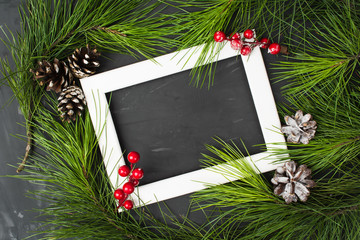 New Year frame decoration card design with copy space