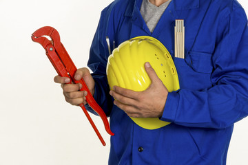 craftsman with tool