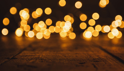 Abstract Christmas Bokeh lights background, including copy space