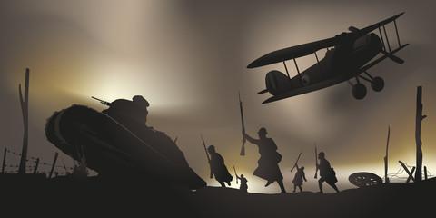 guerre mondiale - 14-18 - bataille - centenaire - armistice - char d'assaut - avion - Verdun
