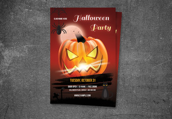 Halloween Party Flyer Layout 19