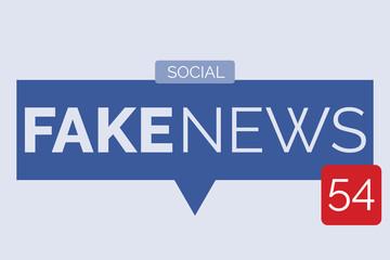 Fake news speech bubble isolated on light blue background vector illustration vector