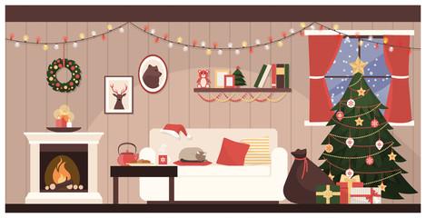 Santa's house interior