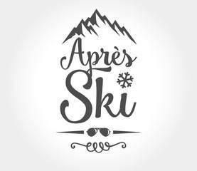 apres ski vector logo