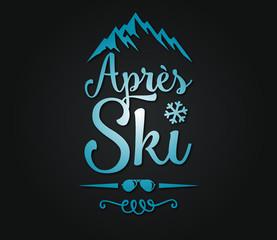 après ski vector design