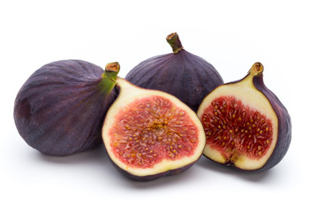 Fruits figs isolated on white background.