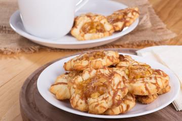 Plate of Apple Caramel Cookies