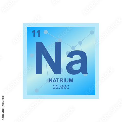 Vector symbol of sodium from the periodic table of the elements on vector symbol of sodium from the periodic table of the elements on the background from connected urtaz Gallery