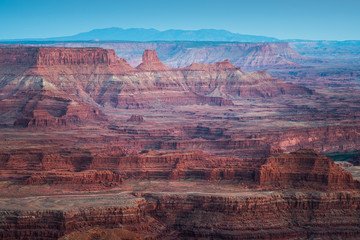 Mountain Layers and Rock Formation of Dead Horse Point State Park and Colorado River in Utah