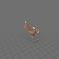 Stylized doe running