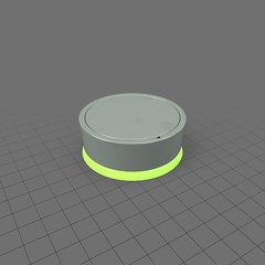 Shallow neon green and grey knob