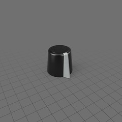 Tall grey and black knob for electronics