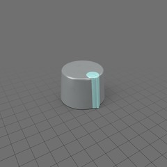 Blue and grey knob for electronics