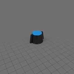 Knob with blue top for electronics