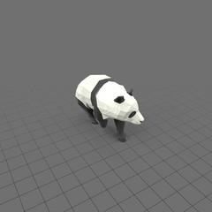 Stylized panda walking