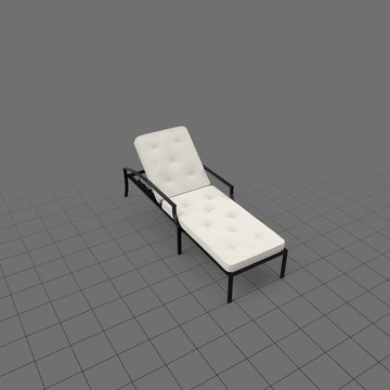 Outdoor chaise with cushion