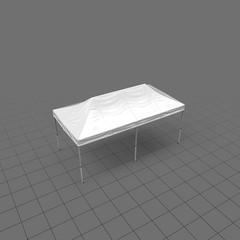 Large flat white tent