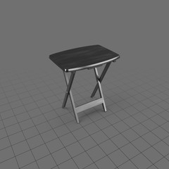 Open folding TV tray table